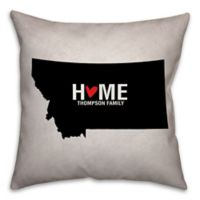 Montana State Pride 16-Inch x 16-Inch Square Throw Pillow in Black/White