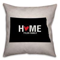 North Dakota State Pride 16-Inch x 16-Inch Square Throw Pillow in Black/White