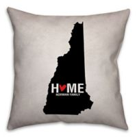 New Hampshire State Pride 16-Inch x 16-Inch Square Throw Pillow in Black/White