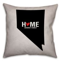 Nevada State Pride 16-Inch x 16-Inch Square Throw Pillow in Black/White