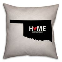 Oklahoma State Pride 16-Inch x 16-Inch Square Throw Pillow in Black/White