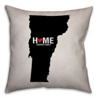 Vermont State Pride 16-Inch x 16-Inch Square Throw Pillow in Black/White