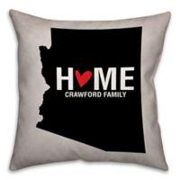 Arizona State Pride Square Throw Pillow in Black/White