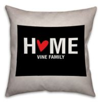 Colorado State Pride Square Throw Pillow in Black/White