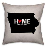 Iowa State Pride Square Throw Pillow in Black/White