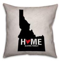 Idaho State Pride Square Throw Pillow in Black/White