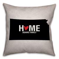 Kansas State Pride Square Throw Pillow in Black/White