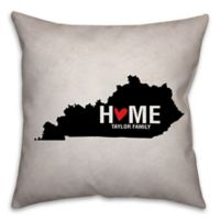 Kentucky State Pride Square Throw Pillow in Black/White