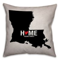 Louisiana State Pride Square Throw Pillow in Black/White