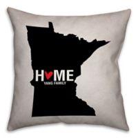 Minnesota State Pride Square Throw Pillow in Black/White