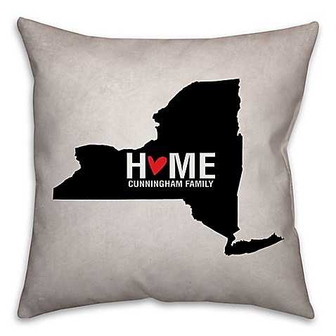 Black Throw Pillows Bed Bath And Beyond : State Pride Square Throw Pillow in Black/White - Bed Bath & Beyond
