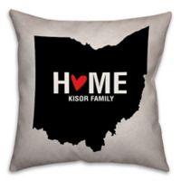Ohio State Pride Square Throw Pillow in Black/White