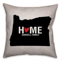 Oregon State Pride Square Throw Pillow in Black/White