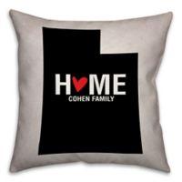 Utah State Pride Square Throw Pillow in Black/White