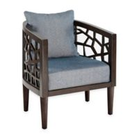 INK+IVY Crackle Carmel Oak Lounger in Blue