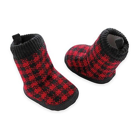 carter's® Plaid Slipper Socks in Red - Bed Bath & Beyond