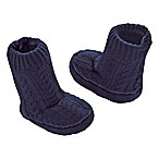 Goldbug™ Size 0-6M Cable Knit Slipper Socks in Navy