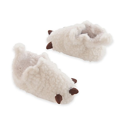 carter's® Bear Claw Slipper in White - buybuy BABY