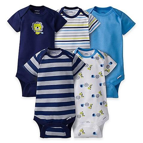 Gerber® ONESIES® 5-Pack Lion Short Sleeve Bodysuits in ...
