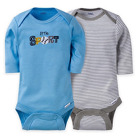Five long-sleeve bodysuits in baby-soft cotton featuring nickel-free Leveret Baby Onesie Boys Girls 4-Pack Striped & Solid Baby Bodysuit Underwear % Cotton ( Months) by Leveret.