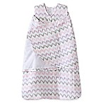 HALO® SleepSack® Small Chevron Muslin Multi-Way Swaddle in Pink/Grey