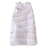 HALO® SleepSack® Size Small Chevron Muslin Adjustable Swaddle in Pink/Grey