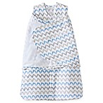HALO® SleepSack® Newborn Chevron Muslin Adjustable Swaddle in Blue/Grey