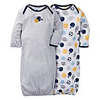 Gerber® 2-Pack Sports Gowns in Navy/White
