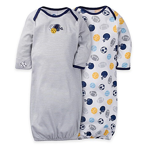 Gerber® 2-Pack Sports Gowns in Navy/White - Bed Bath & Beyond
