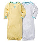 Gerber® 2-Pack Duck/Star Gowns in Yellow/White
