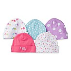 Gerber® Newborn 5-Pack Cap in Pink/Light Blue/Print