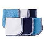 Gerber® 6-Pack Woven Washcloths in Blue
