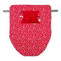 Cheeky Chompers Stroller Blanket in Red Stars