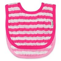iPlay.® 2-Pack Muslin Stripe Bibs in Pink