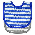 green sprouts® 2-Pack Muslin Stripe Bibs in Royal Blue/Grey