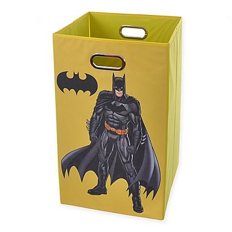 Buy modern littles batman graphic folding laundry basket in blue from bed bath beyond - Batman laundry hamper ...