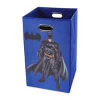 Modern Littles Batman Graphic Folding Laundry Basket in Blue