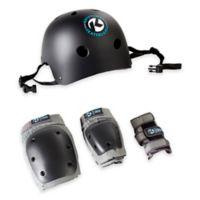 Kryptonics Adult 4-in-1 Pad and Helmet Set in Black