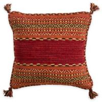 Surya Ganale 22-Inch Square Throw Pillow in Cherry Red