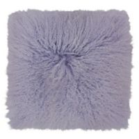 Mina Victory Couture Fur 20-Inch Square Throw Pillow in Lavender