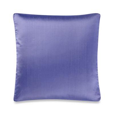 Aura Silk Dupioni Box Square Throw Pillow In Purple
