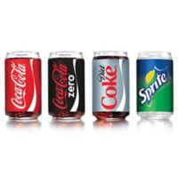 Arc International Coca-Cola Assorted Can-Shaped Glasses (Set of 4)