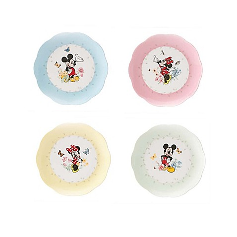 Lenox™ Disney® Mickey in the Meadow Plates and Bowls (Set ...  sc 1 st  buybuy BABY & Lenox™ Disney® Mickey in the Meadow Plates and Bowls (Set of 4 ...