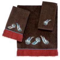 Avanti Feather Mocha Fingertip Towel in Brown