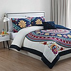 VCNY Ahimsa 3-Piece Twin/Twin XL Comforter Set in White/Multi