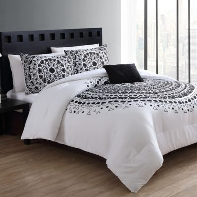 white comforter and bed mainstays coordinating black in bedding bag set a aztec comforters itm twin