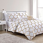 VCNY Ogee Twin/Twin XL Comforter Set in Gold/White