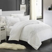 Chic Home Saunder 3-Piece King Duvet Cover Set in White
