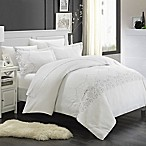 Chic Home Saunder 7-Piece Queen Duvet Cover Set in White