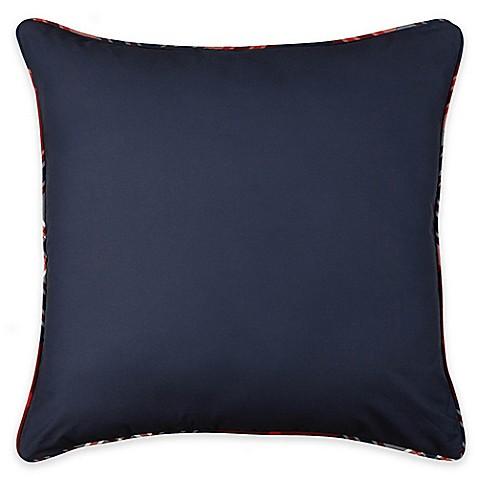 izod brisbane plaid european pillow sham in navy bed bath beyond. Black Bedroom Furniture Sets. Home Design Ideas